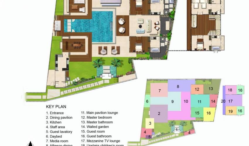 Villa Jajaliluna Spacious 48 Bedroom Seminyak Villa With Pool In Bali Beauteous Bali 4 Bedroom Villa Plans